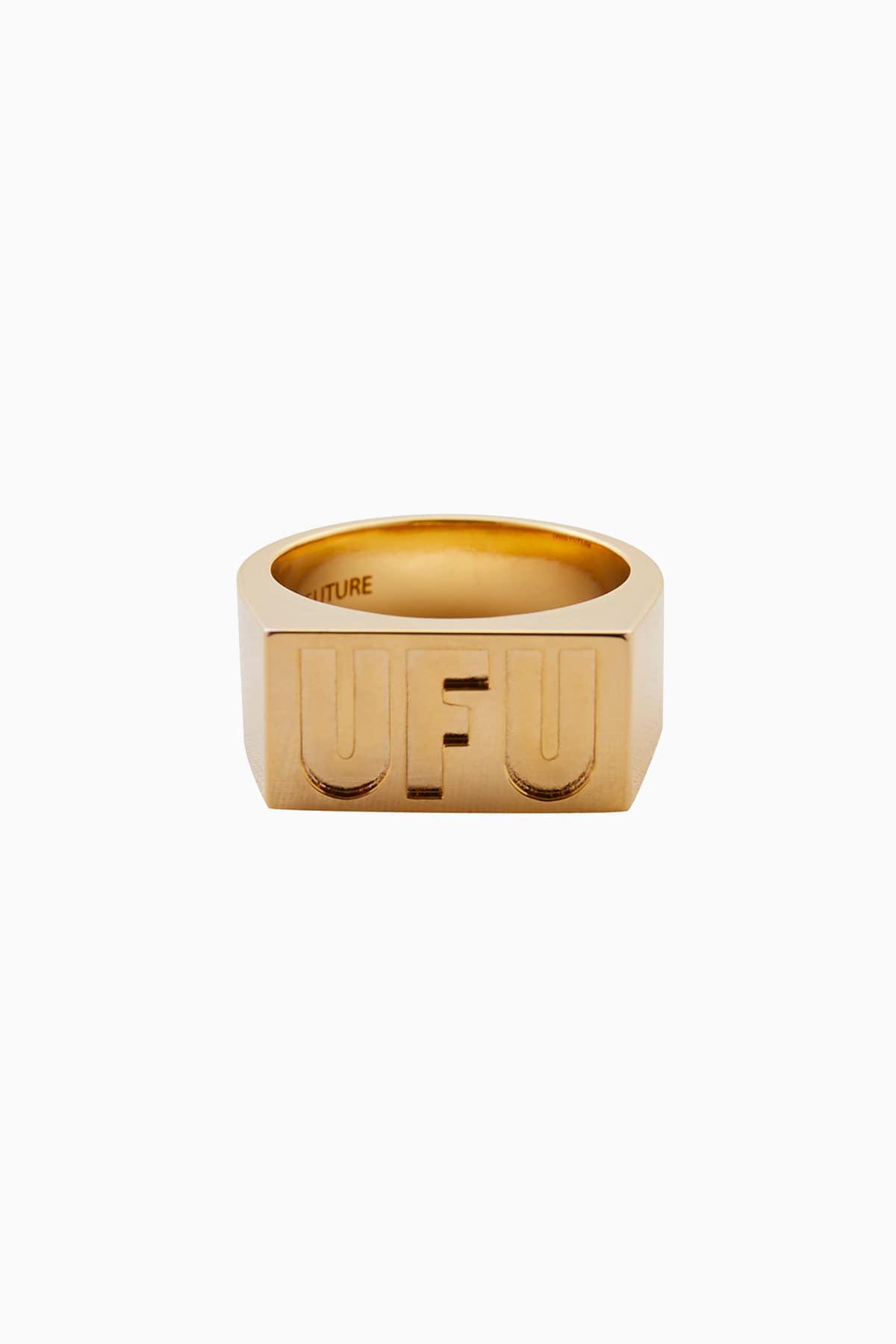 UFU SQUARE RING_GOLD