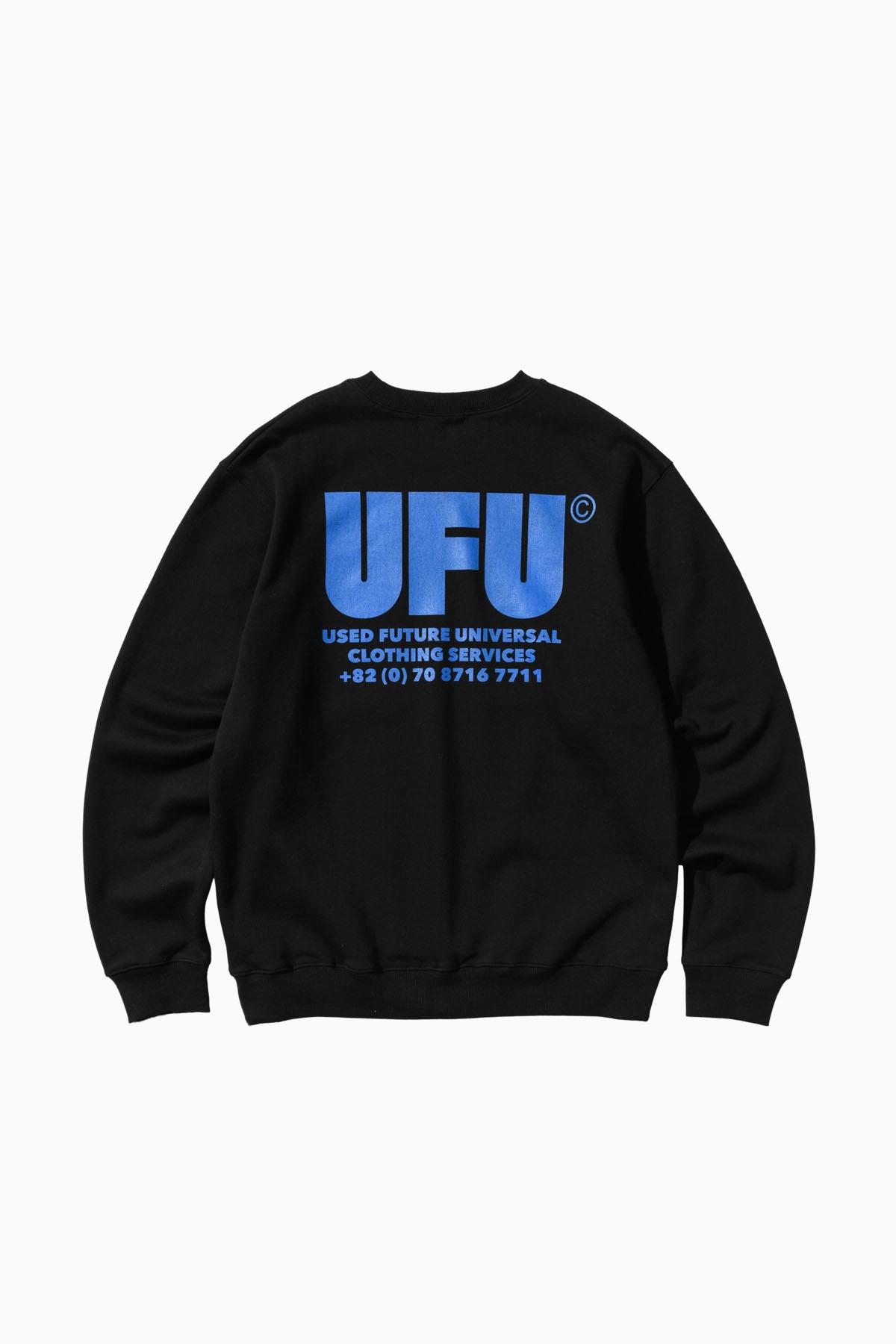 UFU AD CREWNECK_BLACK