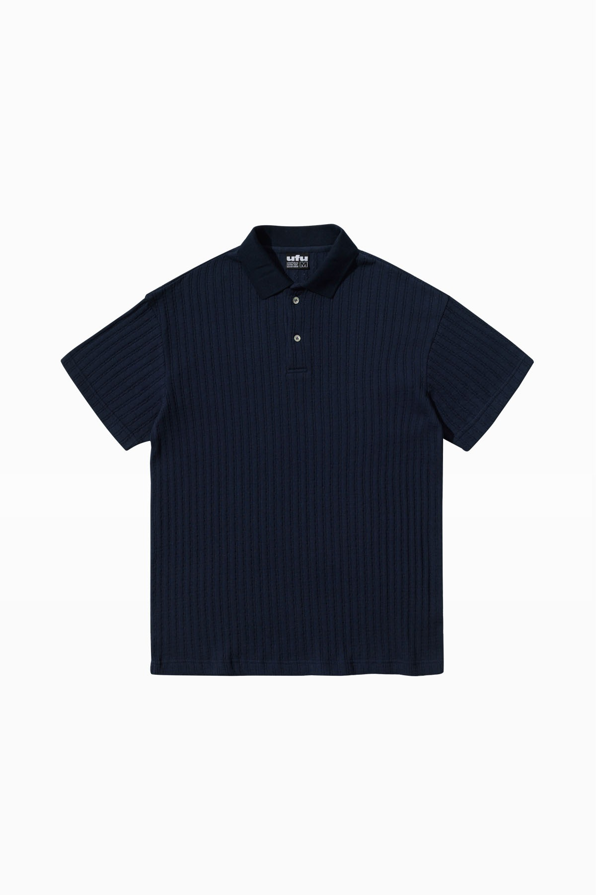 CABLE POLO T-SHIRT_NAVY