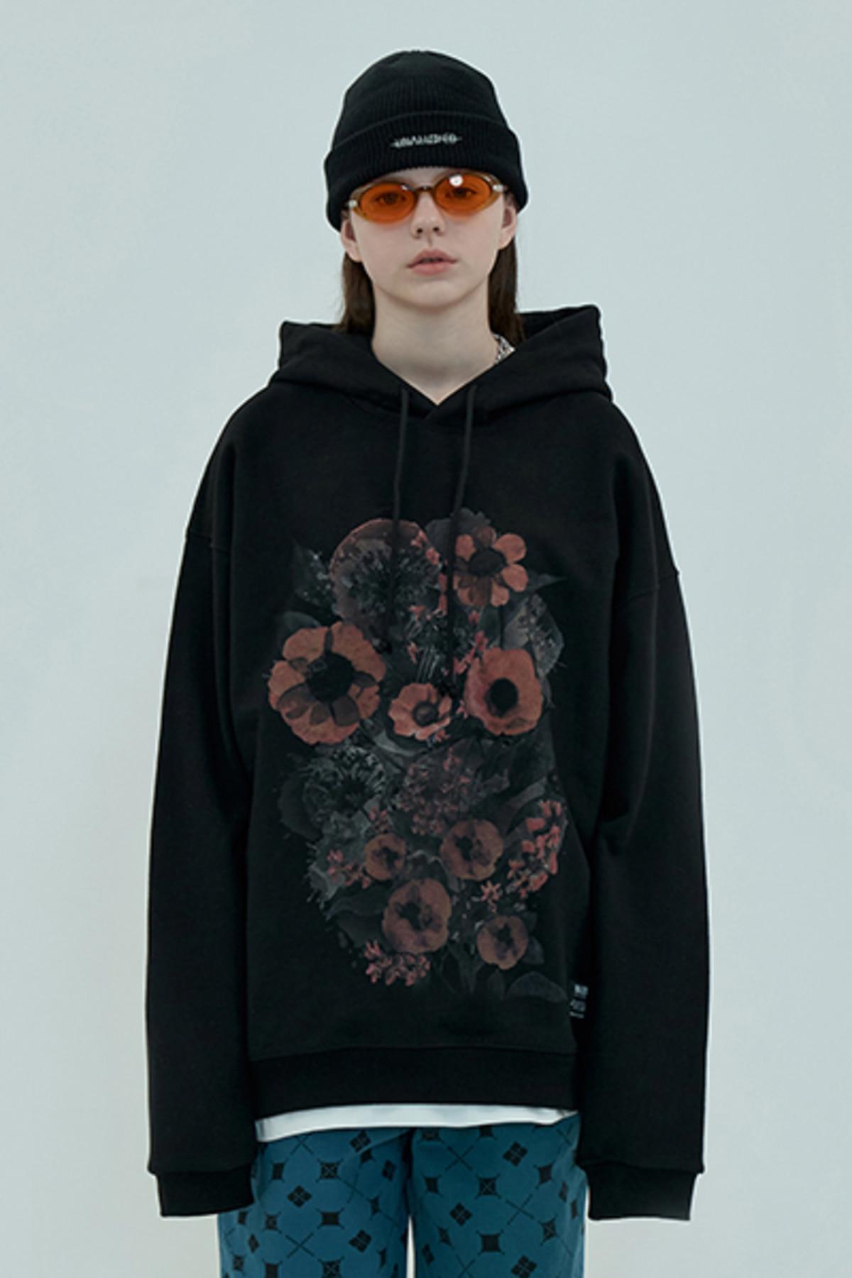 FLOWER HOODIE / BLACK