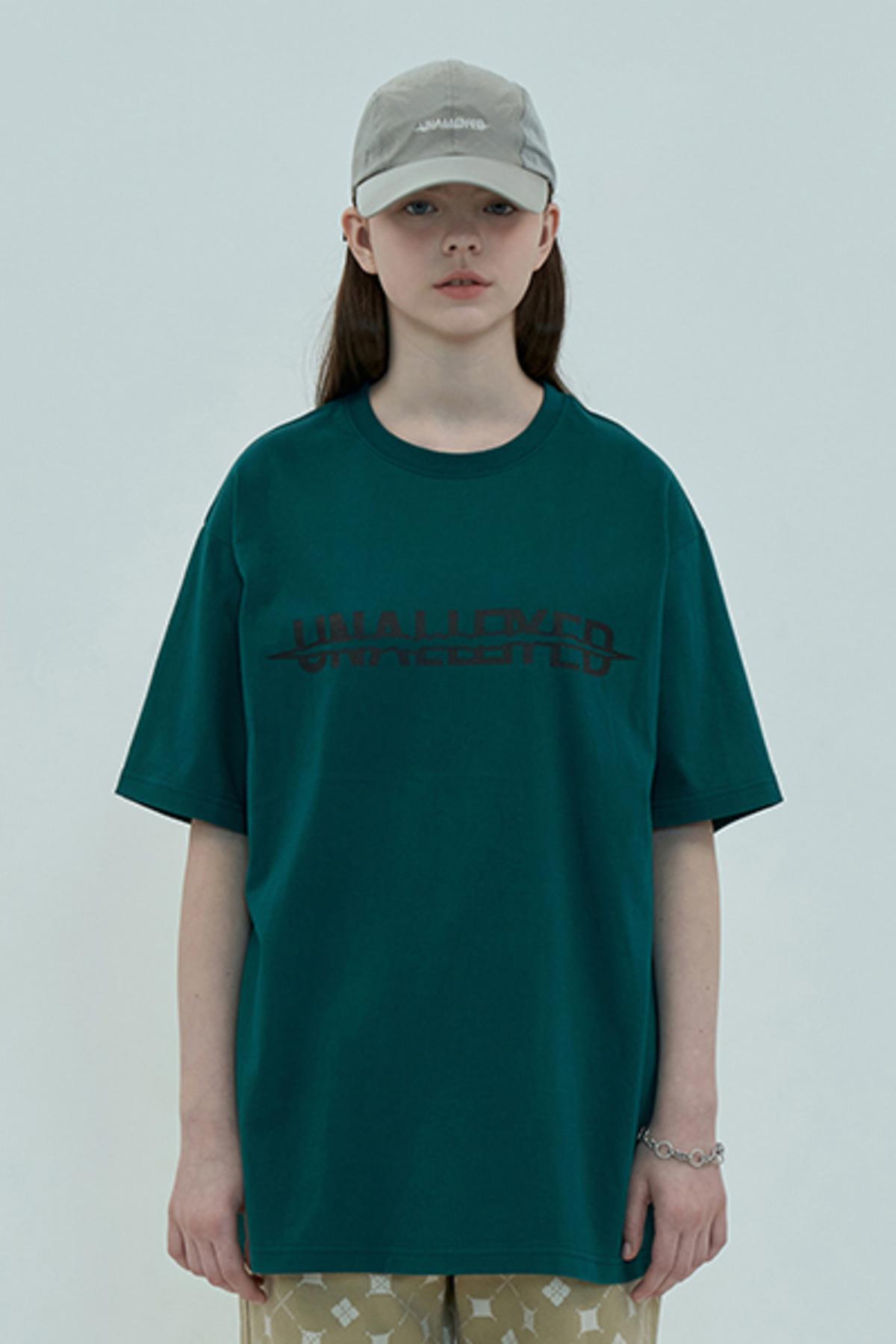 SCRATCH LOGO T SHIRT / GREEN