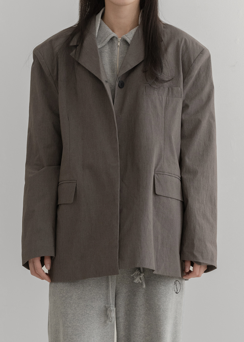 [TEXTURE] One button overfit jacket