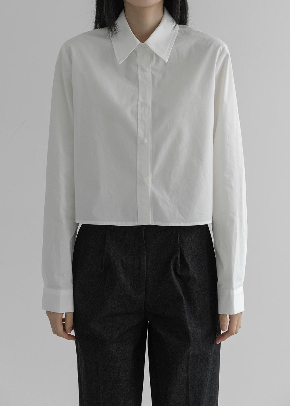[MUY BIEN] Cotton cropped shirt