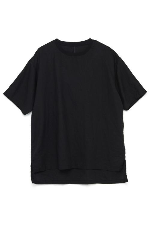 Rib-Neck Linen T-shirt