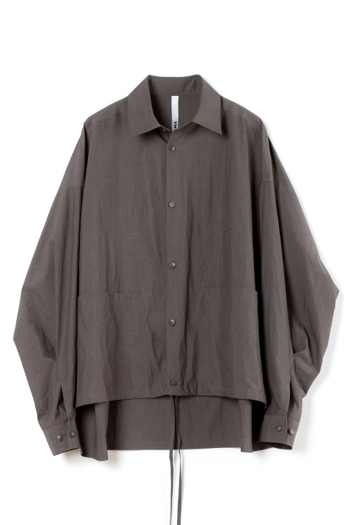 [F/W] Double Square Shirt [CHARCOAL]