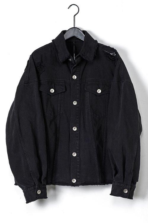 Washed Damage Denim Jacket