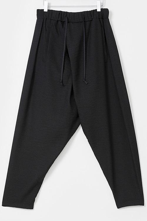 Diagonal Wrap Baggy Pants