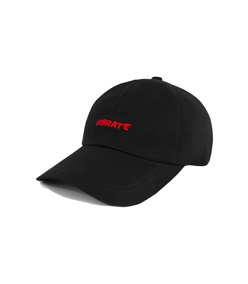 VIBRATE - 3D BASIC BALL CAP (red&black)
