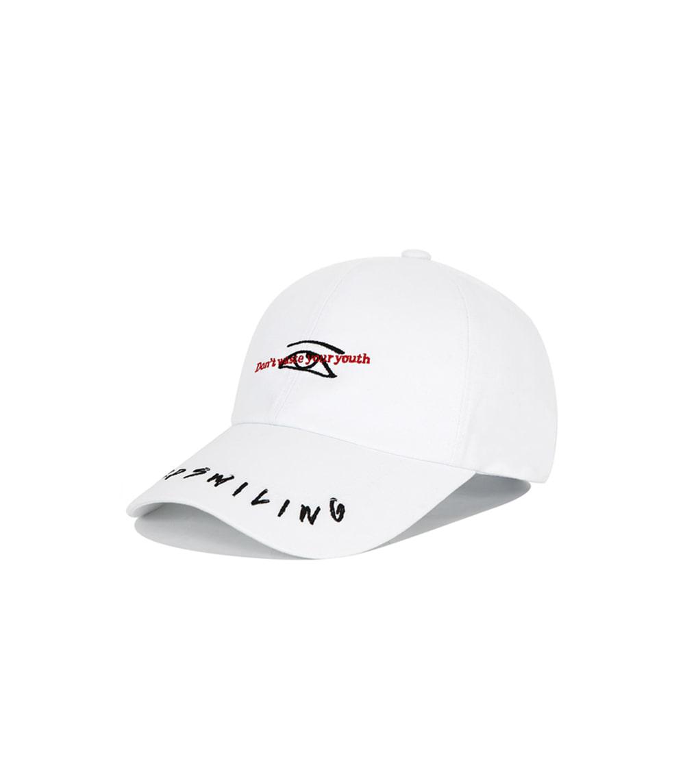 VIBRATE - KEEP SMILING BALL CAP (white)