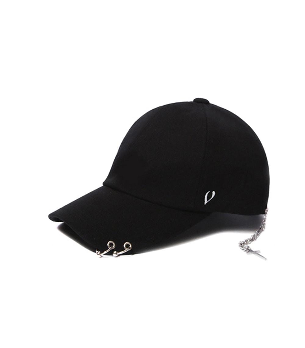 BLACK LINE - SILVER CROSS BALL CAP (BLACK)