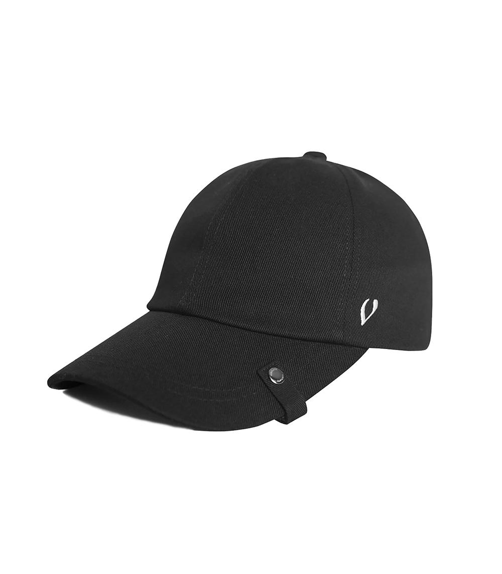 CIGARETTE HOLDER BALL CAP (BLACK)