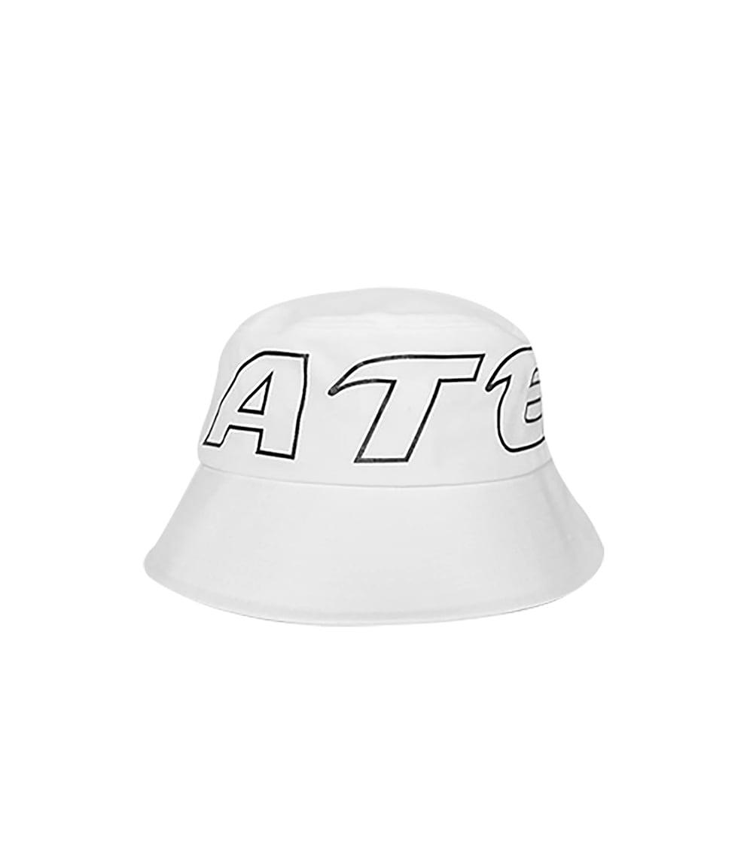 STROKE LOGO POINT BUCKET HAT (WHITE)