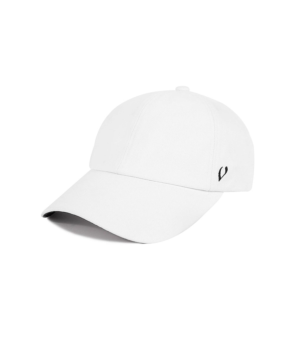 BLACK LINE - DOUBLE SIDE BALL CAP (white)