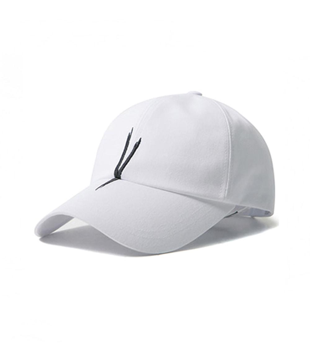 V CHECKING BALL CAP (white)