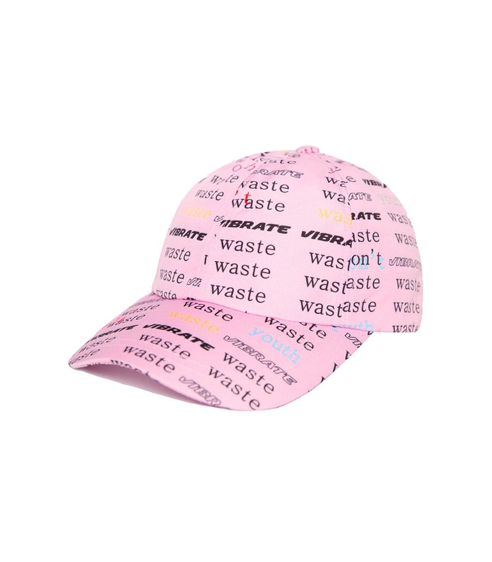 D.W.Y.Y PATTERN BALL CAP (PINK)