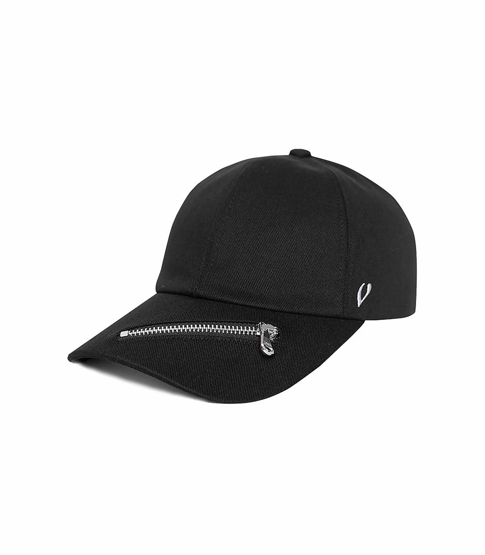 ZIPPER BALL CAP (BLACK)