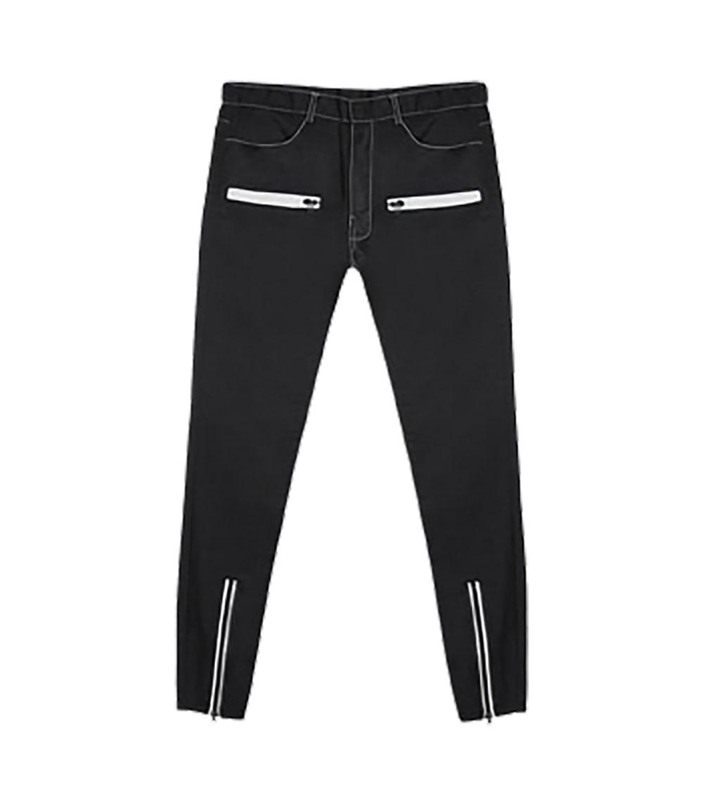 ZIPPER SLIM FIT PANTS (BLACK)