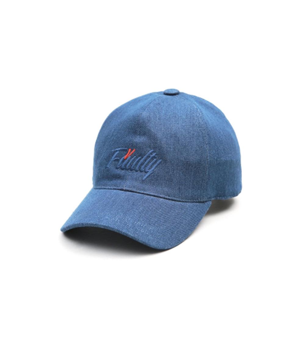 VIBRATE - ITALIC BALL CAP (blue denim)