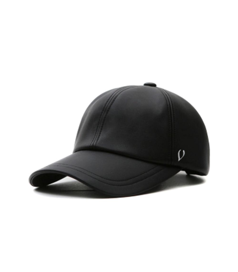 BLACK LINE - SOFT LEATHER BALL CAP (black)