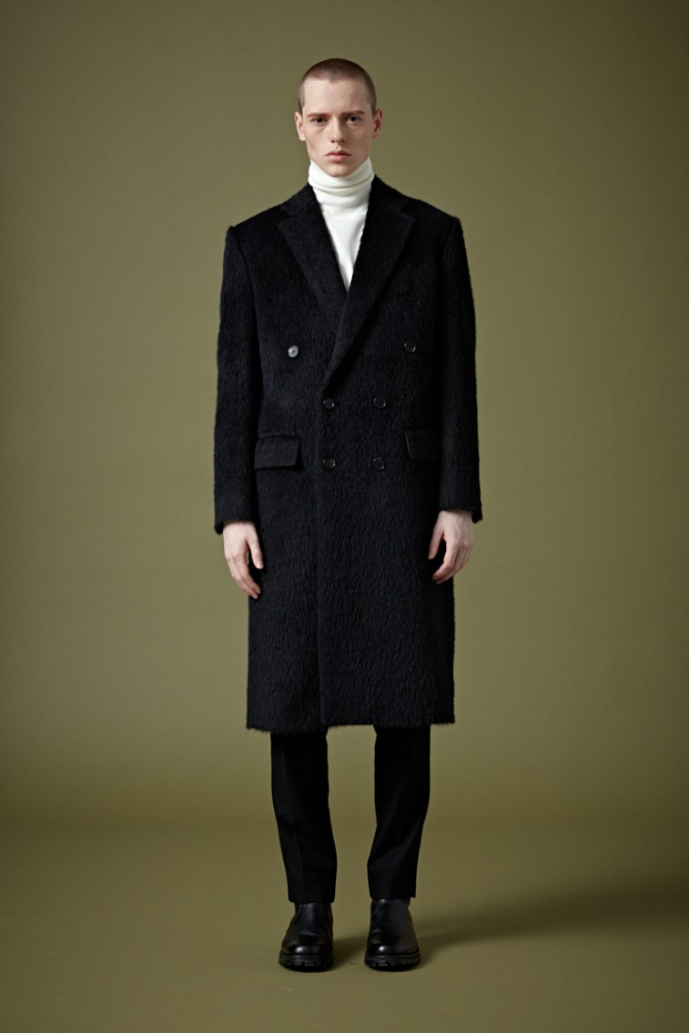 """[206 HOMME BY JLDCLASSIC]""""BOHEMIANO"""" BLACK DOUBLE COAT(ALPACA FROM ITALY)(CT-256)"""