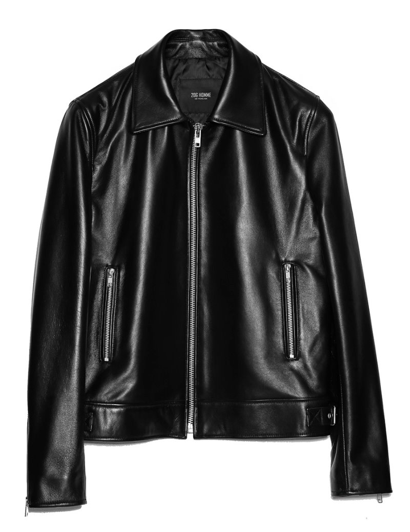 [206HOMME BY JLDCLASSIC]MINIMAL™ ITALY SHEEP-SKIN LEATHER JACKET(LT-159)