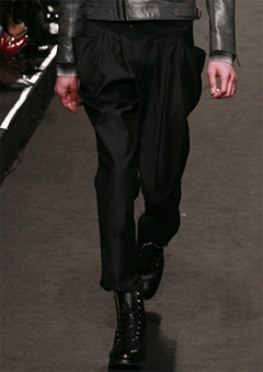 """[LEE YOUNG JUN]              2009-10 F/W SEOUL COLLECTION             """"GOTH RIDER""""                              ITALY WOOL MINIMAL™ BAGGY PANTS"""