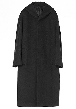 """[206 HOMME BY JLDCLASSIC]HIGH-END™ OVERSIZE HOOD BLACK LONG COAT(WOOL 100%)(CT-222)[양세종 """"공항패션"""" 협찬]"""