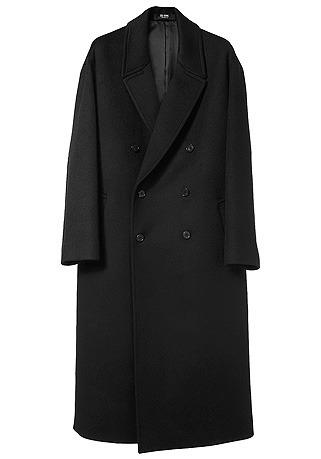HIGH-END™ OVERSIZE DOUBLE BLACK LONG COAT(최고급 터치감 울100% 원단)(WOOL 100%)(남여공용)(CT-220)