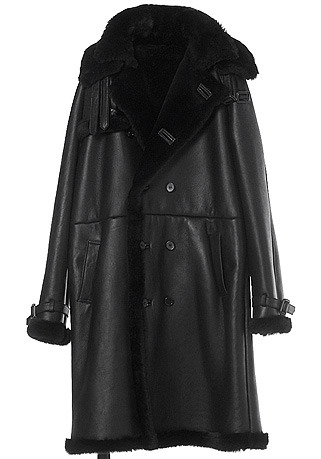 [206 HOMME BY JLDCLASSIC]TRENCH DOUBLE-COLLAR BLACK LONG MUSTANG(ITALY MUSTANG-100%)(남성용 + 여성용)(MS-069)