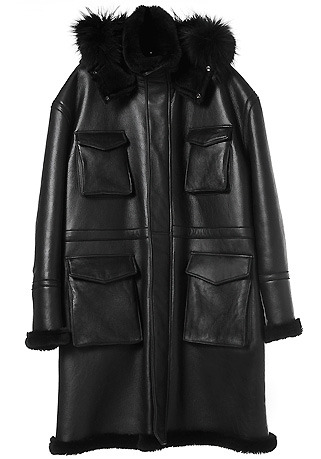 [206 HOMME BY JLDCLASSIC]OVERSIZE RACCON HOOD LONG MUSTANG COAT(ITALY MUSTANG-100%)(남성용 + 여성용)(MS-053)