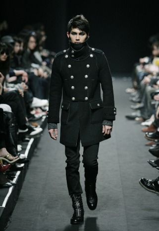 """[206 HOMME BY JLDCLASSIC]★SEOUL COLLECTION★""""GOTH RIDER""""NAPOLEON DOUBLE WOOL COAT[1216]"""