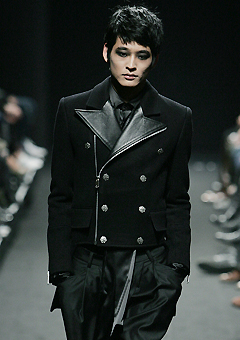 """[206 HOMME BY JLDCLASSIC]★SEOUL COLLECTION★""""GOTH RIDER""""RIDER PEA-COAT TUXIDO LINE[1088]"""