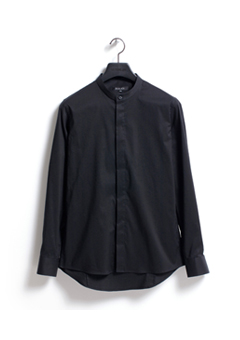 [206 HOMME]2020 S/S NEW COLLECTIONCHINA-COLLAR BLACK SLIM SHIRTS(SH-053)