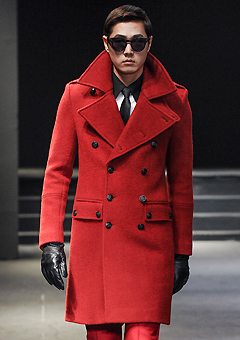 """[206 HOMME BY JLDCLASSIC] ★SEOUL COLLECTION★""""HYBRID""""RED NAPOLEON PREMIUM COAT(CT-005)"""