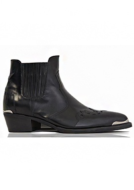 [206 HOMME]2020 S/S NEW COLLECTION2015-16 F/W NEW COLLECTIONWESTERN FIRE-BIRD™ BLACK ANKLE BOOTS(SS-046)