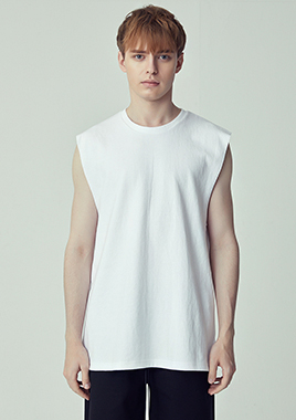 [206 HOMME]2019 S/S  NEW  COLLECTIONSEMI-OVER FIT™ SIGNATURE WHITE TANK(UNISEX)(TH-001WE)▶{당일배송 + 쇼룸 바로구매 가능}◀(오후4시전 입금확인시 당일출고가능)