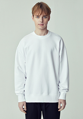 [206 HOMME]2018 S/S  NEW  COLLECTIONOVER-FIT™ MINIMAL WHITE MAN-TO-MAN LONG T(UNISEX)(18SSTH-008WE)▶{당일배송 + 쇼룸 바로구매가능}◀