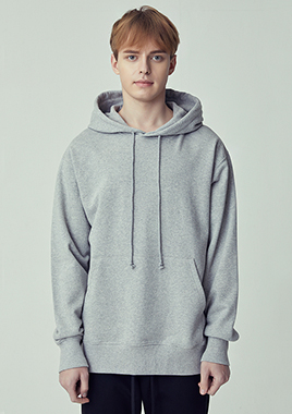 [206 HOMME]2018 S/S  NEW  COLLECTIONSTANDARD-FIT™ MINIMAL MELANGE HOOD LONG T(UNISEX)(18SSTH-002GY)▶{당일배송 + 쇼룸 바로구매가능}◀