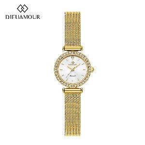 디유아모르 여성 메쉬밴드시계 DAW3201M-GW 다이아몬드 시계