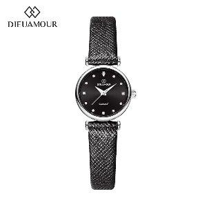 디유아모르 여성 가죽밴드시계 DAW3202L-BK 다이아몬드 시계