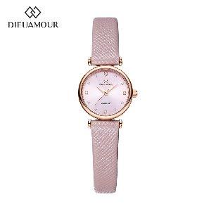 디유아모르 여성 가죽밴드시계 DAW3202L-PK 다이아몬드 시계