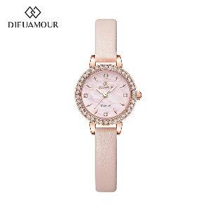 디유아모르 여성 가죽밴드시계 DAW3101L-PK 다이아몬드 시계