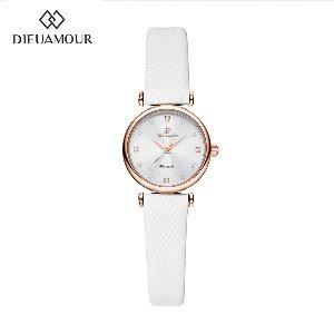 디유아모르 여성 가죽밴드시계 DAW3202L-WH 다이아몬드 시계