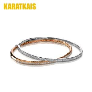 Half Diamond Threaded Round Bracelet
