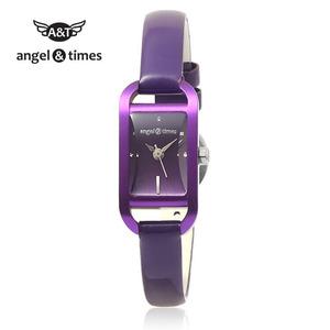 [엔젤앤타임][Angel&Times] AT14001PU [한국본사정식A/S] 여성용 가죽밴드시계