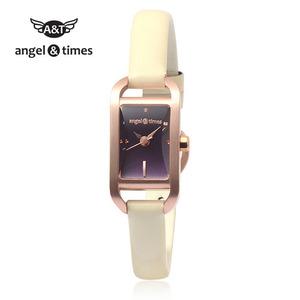 [엔젤앤타임][Angel&Times] AT14001RP [한국본사정식A/S] 여성용 가죽밴드시계