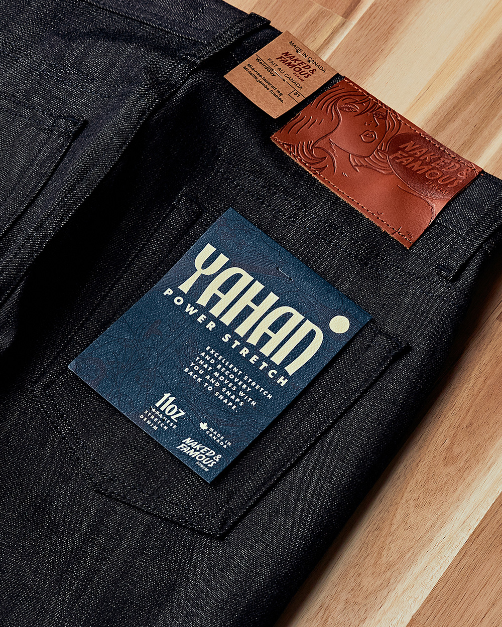 [NAKED&FAMOUS] NF 21fw Yahan Power Stretch Denim
