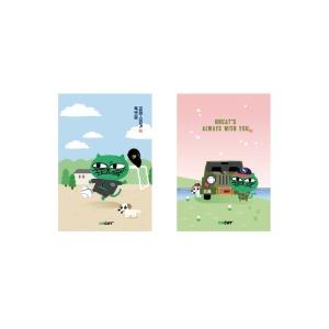 옥캣 - 노트세트 / 2018 꽃신 팝업