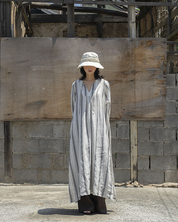 [nature] stripe linen dress(sold out)