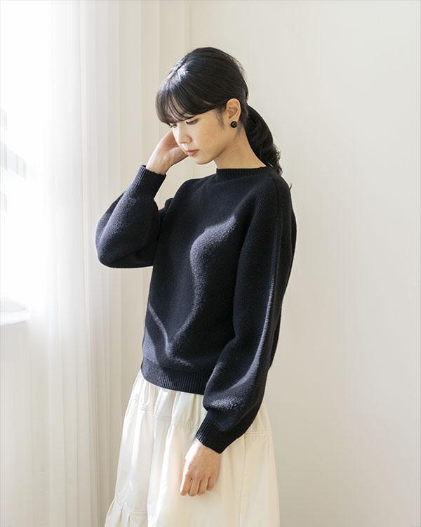 balloon sleeve knit (open, 단독 주문 시 선발송)